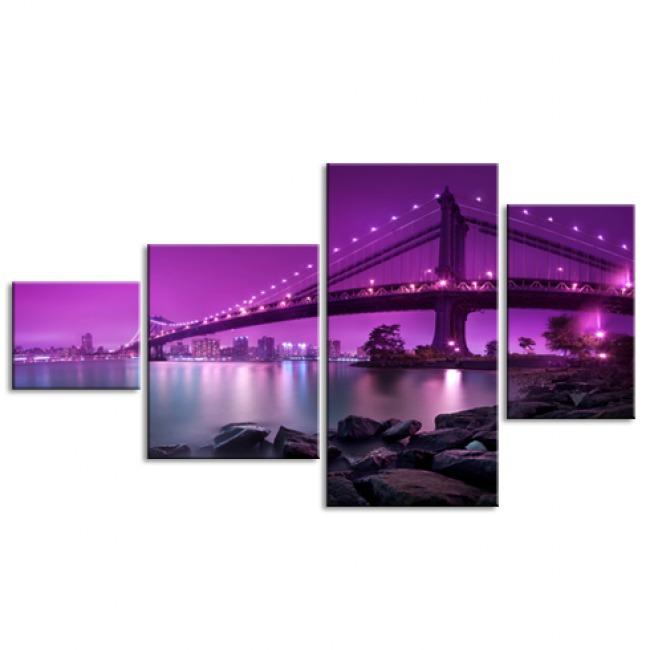 Мост в фиолетовом свете