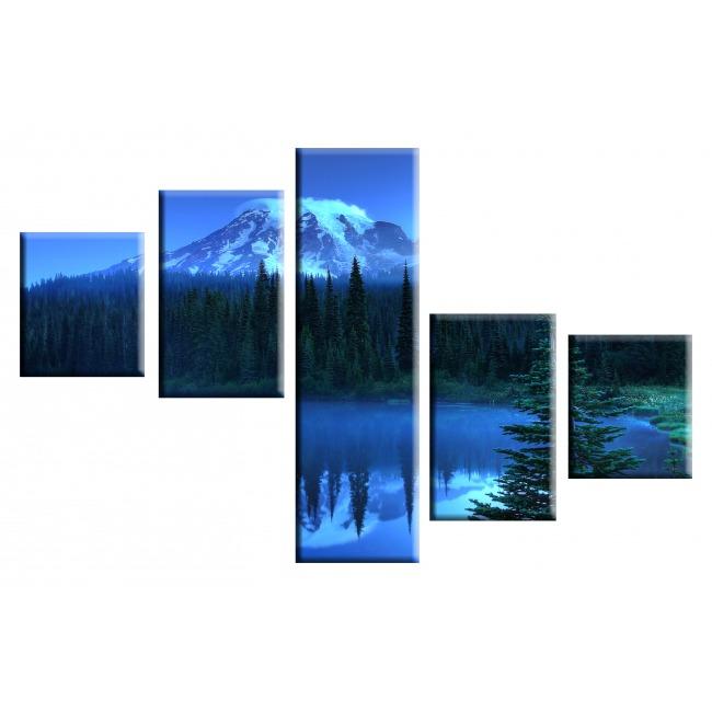 Голубой пейзаж